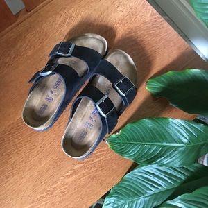 Birkenstock Arizona Black Sandals Like New